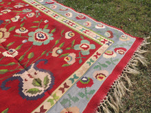 Lovely Balkan Kilim Rug with Floral Motifs