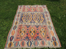 """Aegean"" Turkish kilim rug 5x7 - bosphorusrugs  - 4"