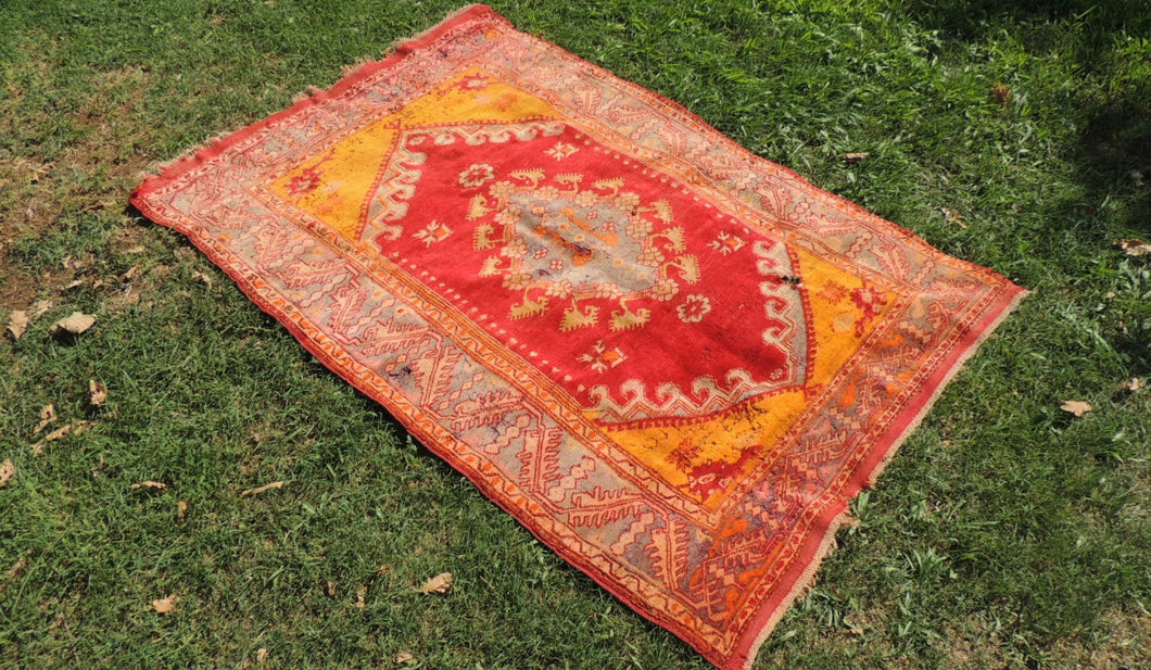 Antique Turkish Guney Area Rug