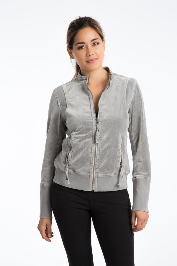 Donna Velveteen Track Jacket - Marrakech Clothing