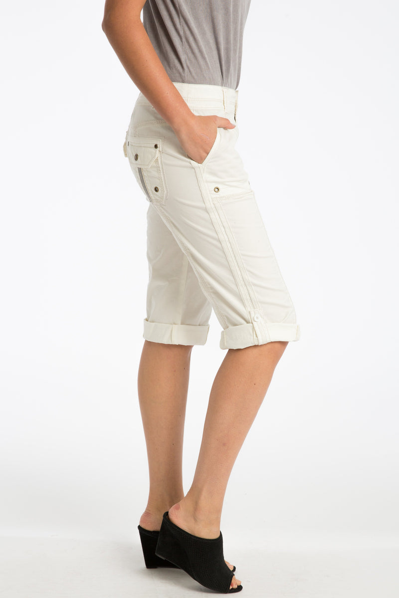Ann Stretch Poplin Capri - Marrakech Clothing
