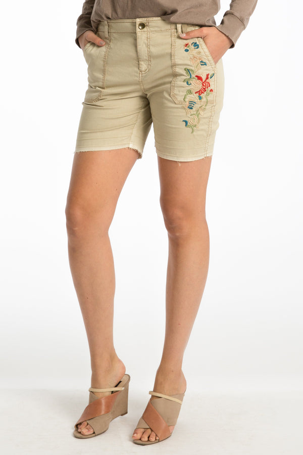 Connor Embroidered Short - Marrakech Clothing