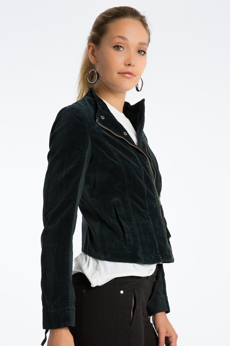 Harlow 60's Velveteen Moto Jacket - Marrakech Clothing