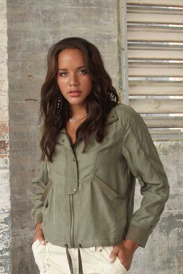 Brie Cupro Draped Jacket - Marrakech Clothing