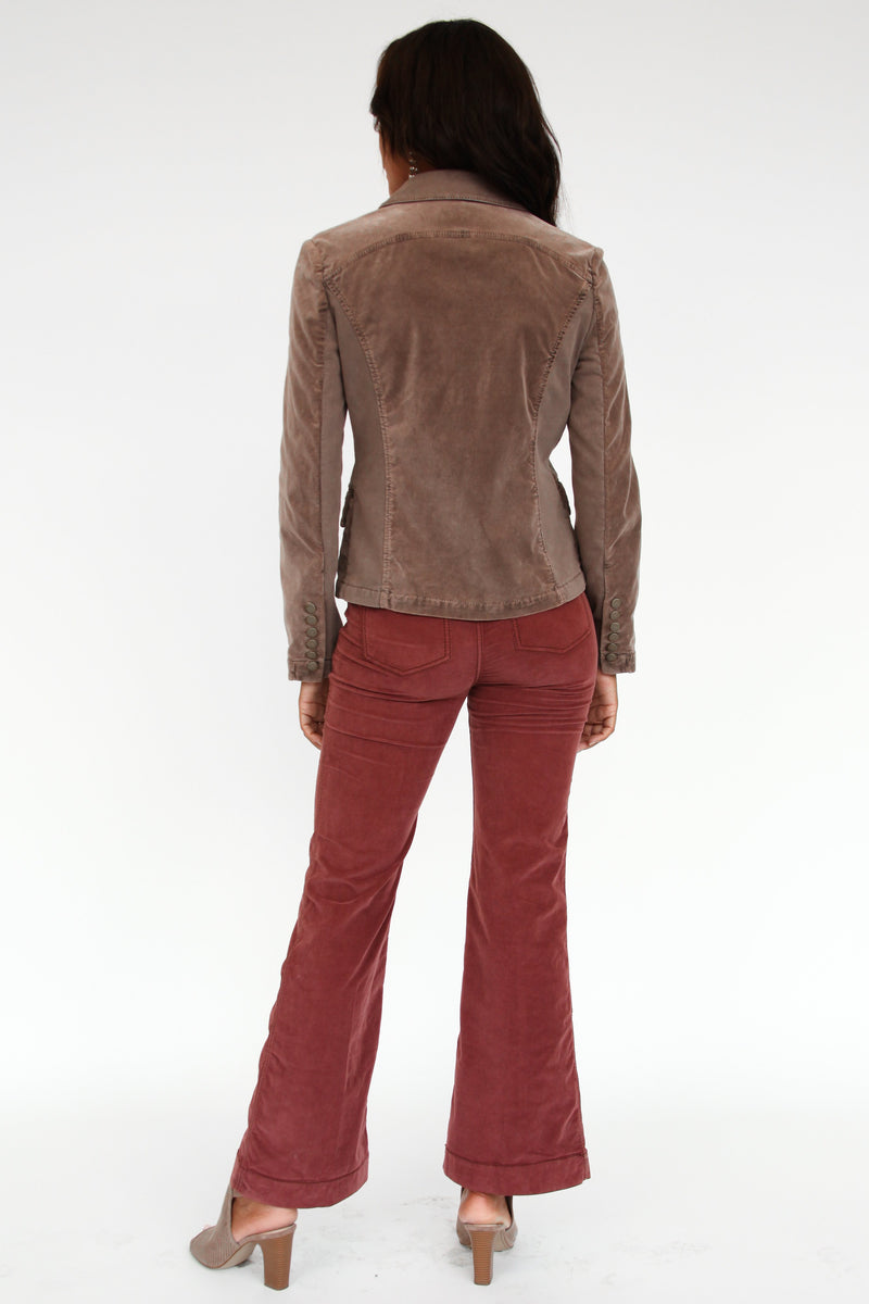 Fargo High-Rise Corduroy Flare Trouser - Marrakech Clothing