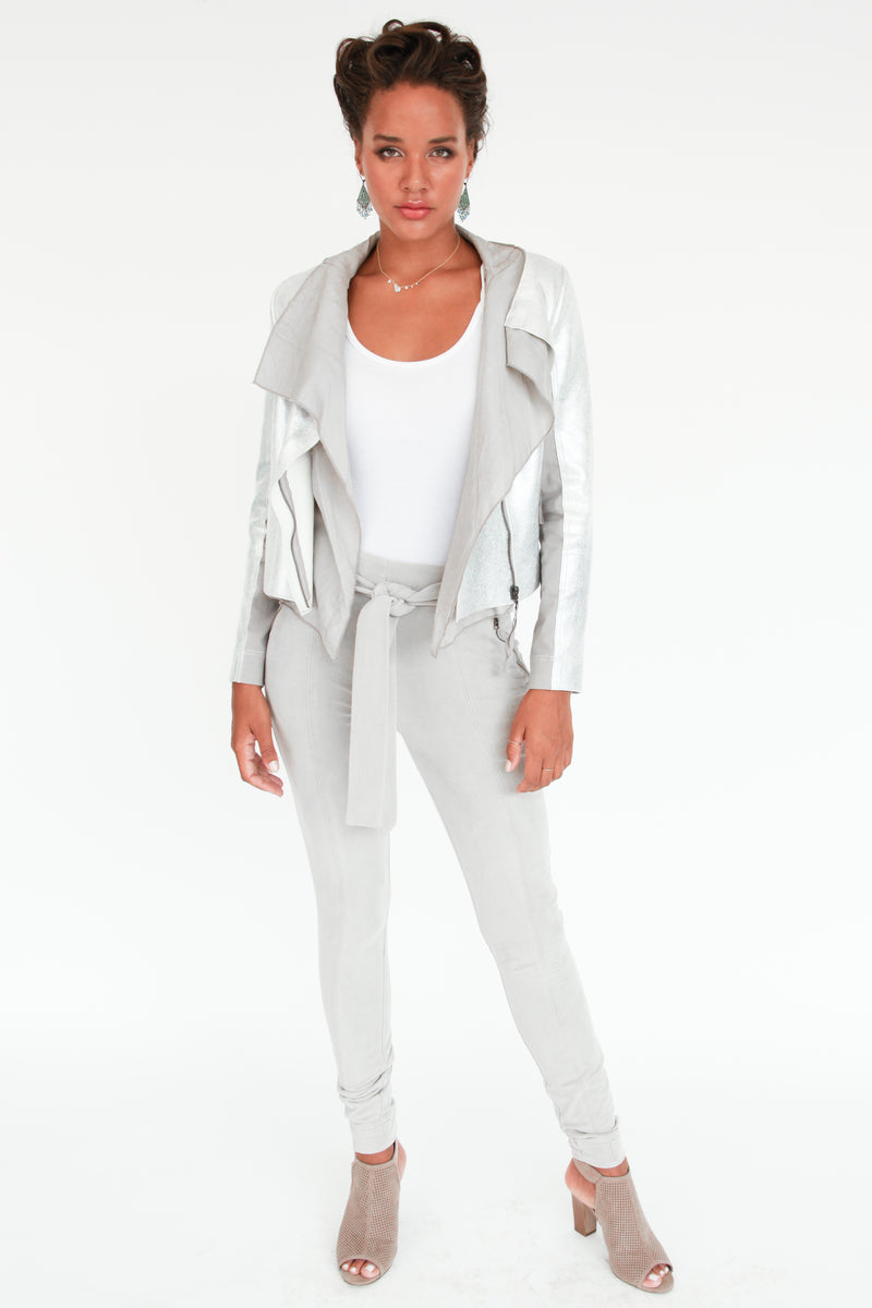 Scarlett Waterfall Moto Jacket - Marrakech Clothing