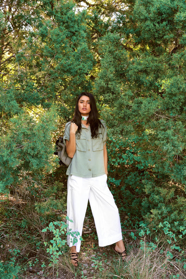 Jane Tencel Shirt Jacket - Marrakech Clothing