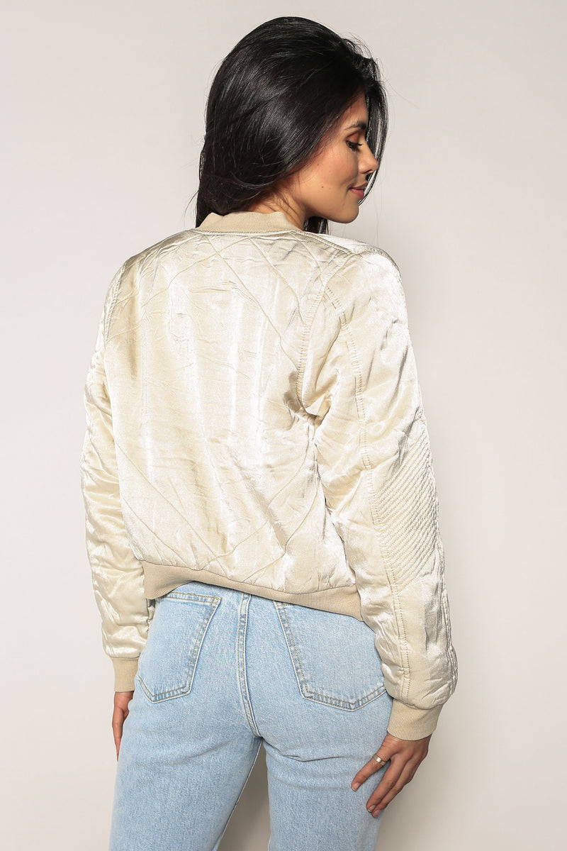 Maiya Quilted Sateen Jacket - Marrakech Clothing