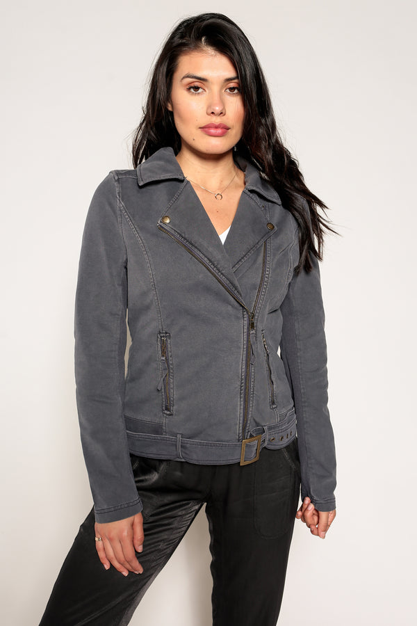 Ryder Knit Moto Jacket - Marrakech Clothing