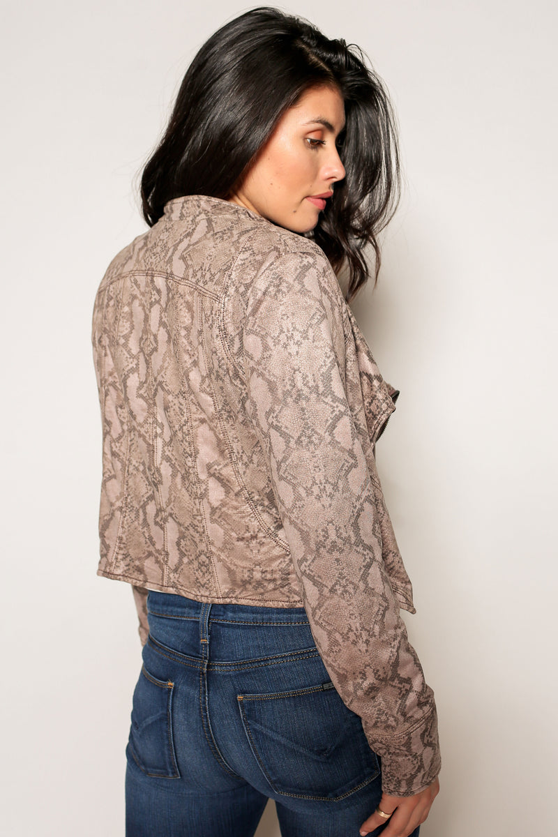 Kylie Drapey Moto Jacket - Marrakech Clothing