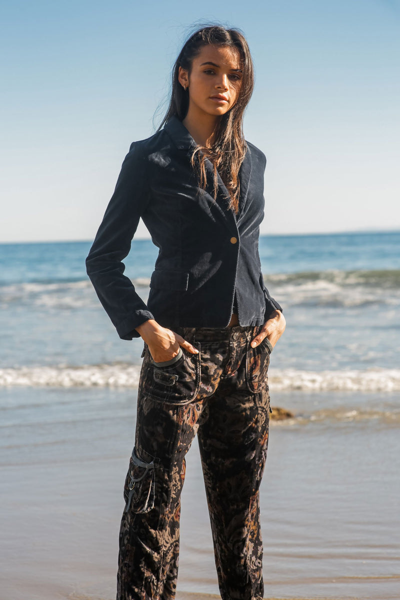Jacky Velvet Silk Cargo Pant - Marrakech Clothing
