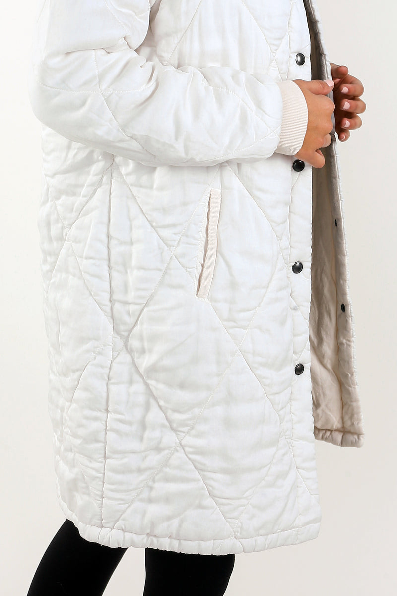 Aurora Sateen Quilted Parka - Marrakech Clothing