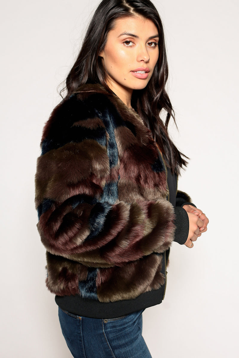 Alyssa Faux Fur Jacket - Marrakech Clothing