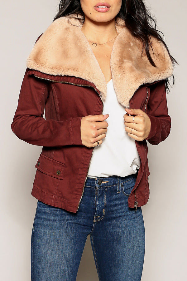 Aviator Faux Fur Jacket