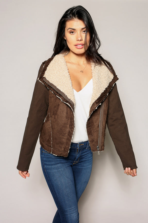 Sherpa Moto Jacket - Marrakech Clothing