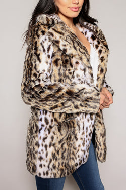 Mirabeau Leopard Faux Fur Coat - Marrakech Clothing