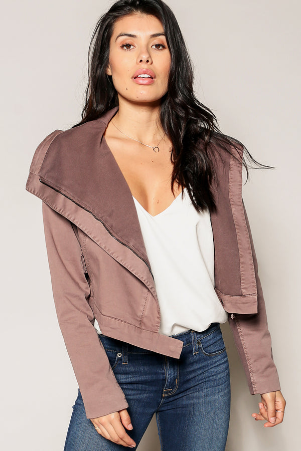 Speedway Cropped Moto Jacket - Marrakech Clothing