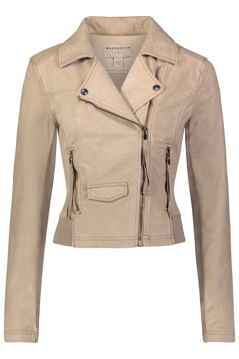 Ashley Suede French Terry Jacket - Marrakech Clothing