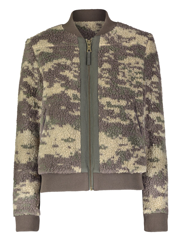 Camo Sherpa Bomber Jacket - Marrakech Clothing