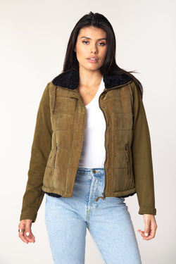 Tia Quilted Sherpa Jacket - Marrakech Clothing