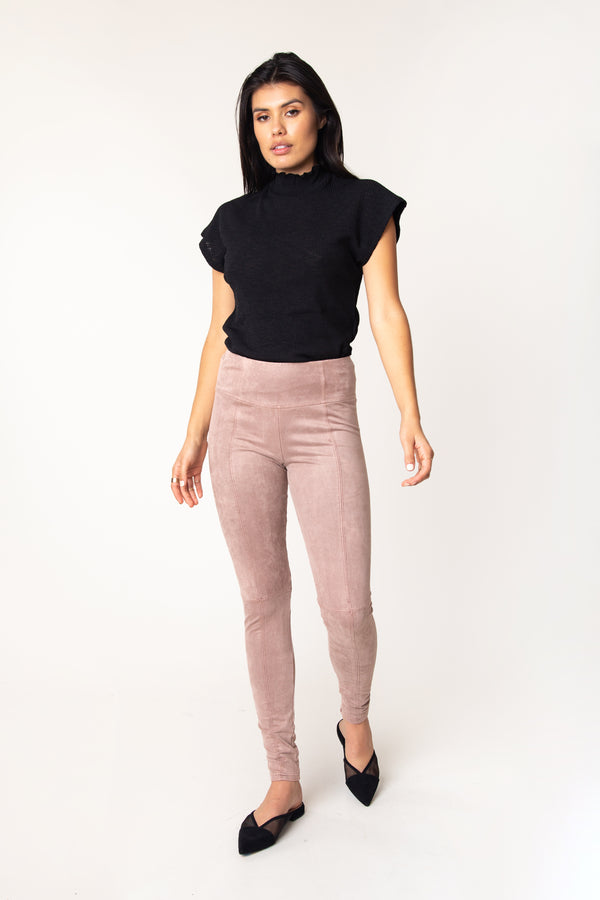 Nara Suede French Terry Legging - Marrakech Clothing