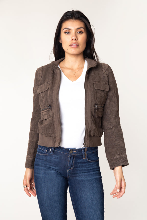Colby Jacquard Bomber Jacket - Marrakech Clothing