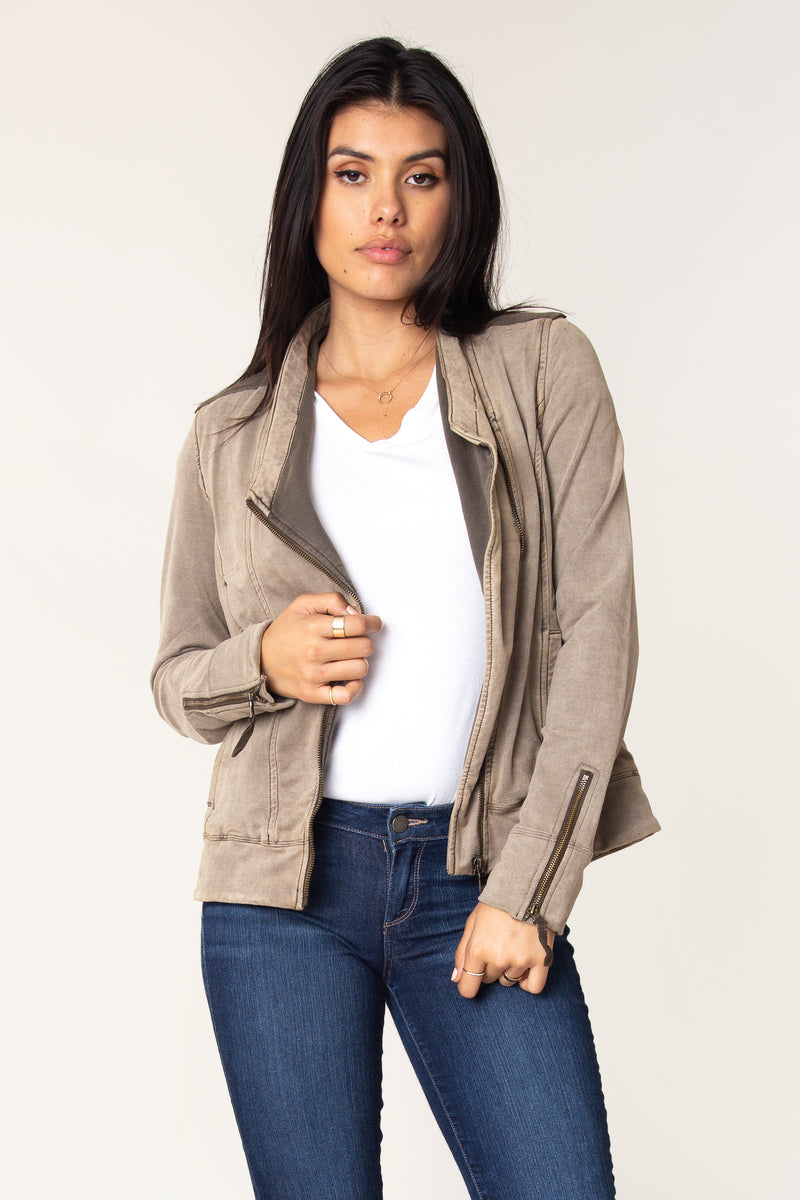 Helene Suede French Terry Jacket - Marrakech Clothing