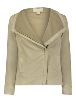 Kellie Suede French Terry Moto Jacket - Marrakech Clothing