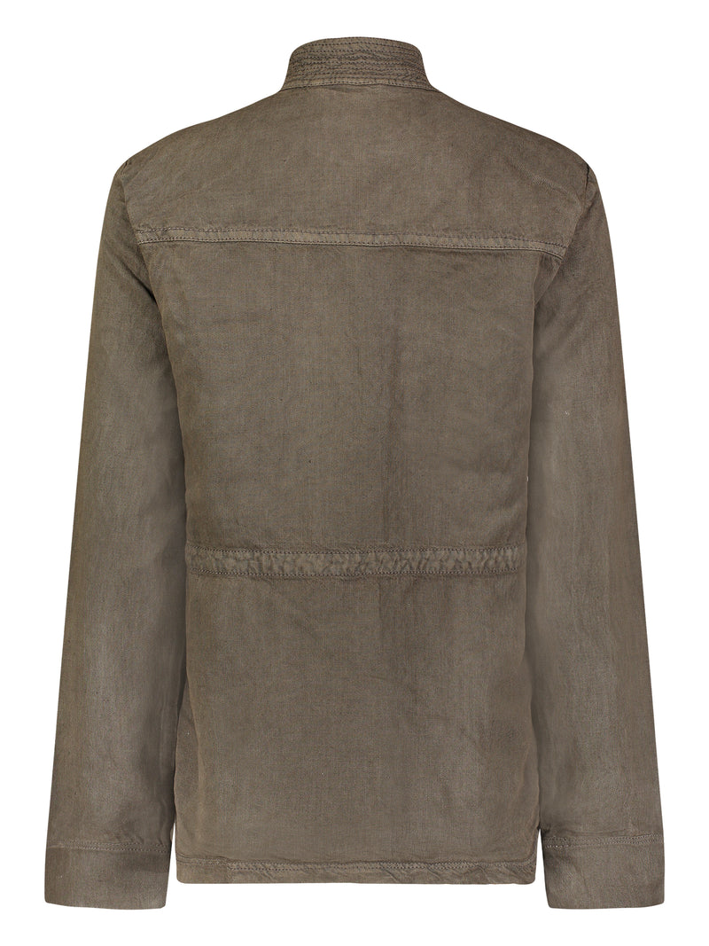 Albertine Linen Field Jacket - Marrakech Clothing