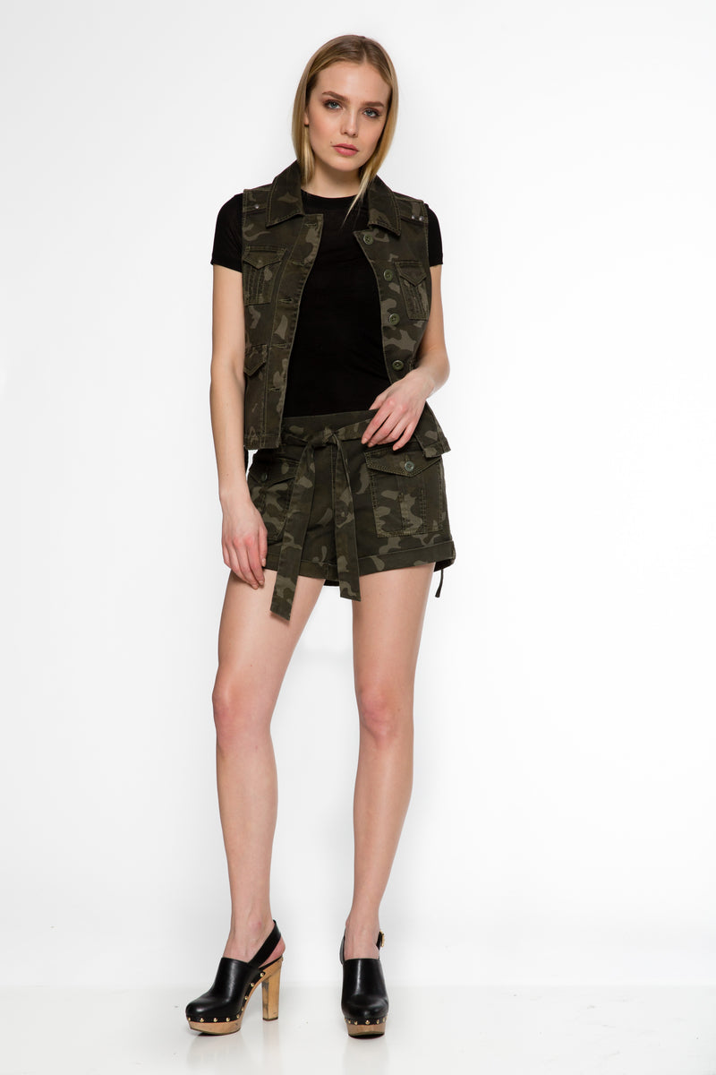 Frankie Tie-Front Short - Marrakech Clothing
