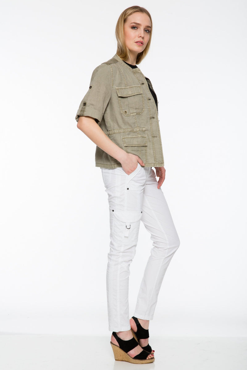 Fenna Linen Shirt Jacket - Marrakech Clothing