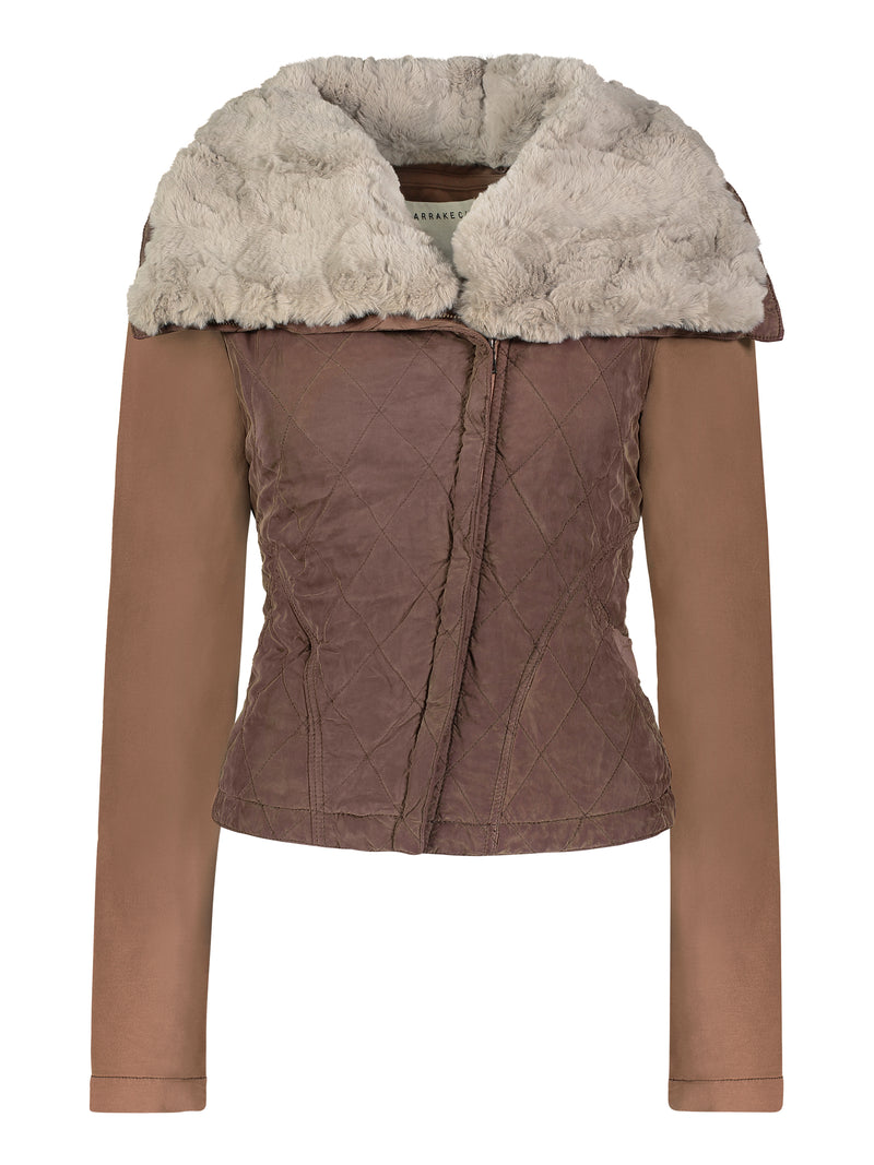 Monique Quilted Aviator Jacket - Marrakech Clothing