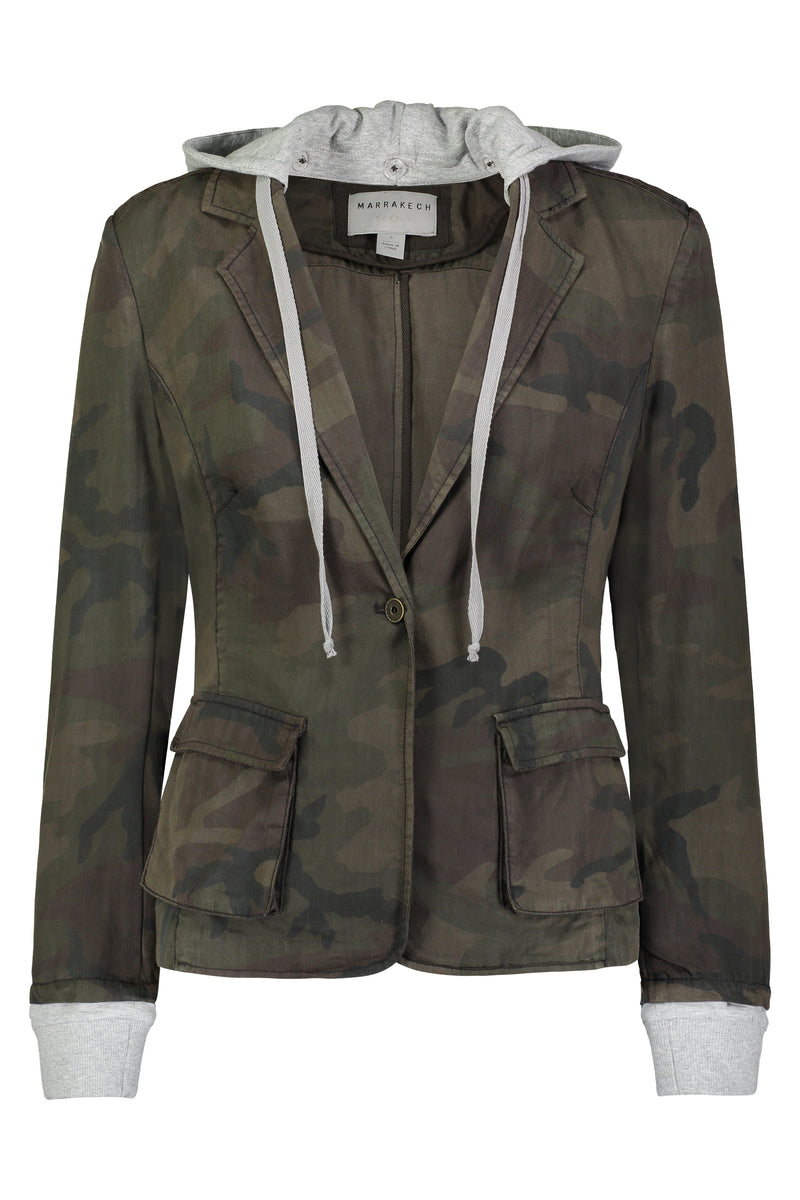 Pamela Hooded Blazer Jacket - Marrakech Clothing