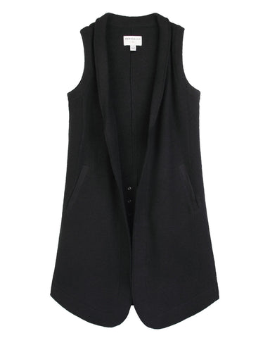 Azure Wool Black/Noir Deverlie Vest