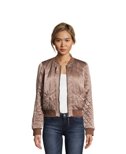 Maiya Quilted Sateen Jacket