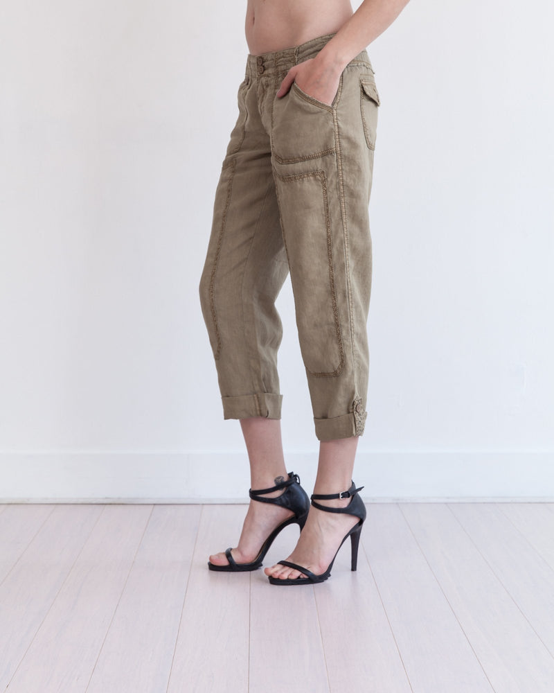 Theodore Roll-Up Linen Pant - Marrakech Clothing