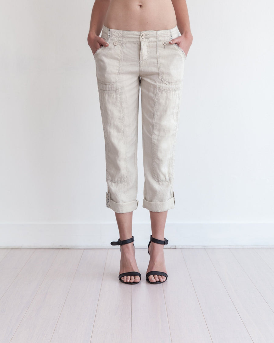 Theodore Roll-Up Pant Sahara