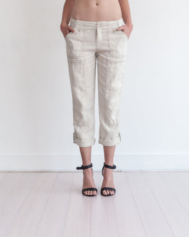 Theodore Roll-Up Pant Sandy