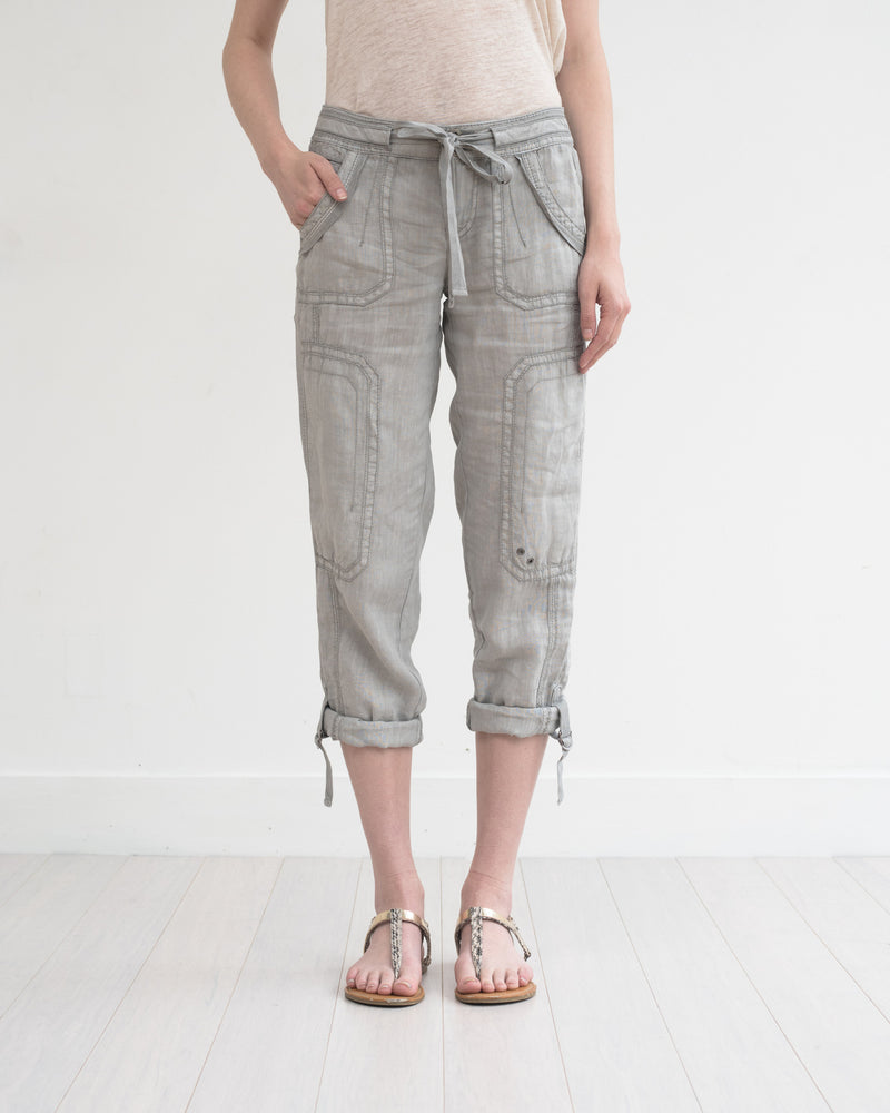 Ali Roll-up Linen Utility Pant - Marrakech Clothing