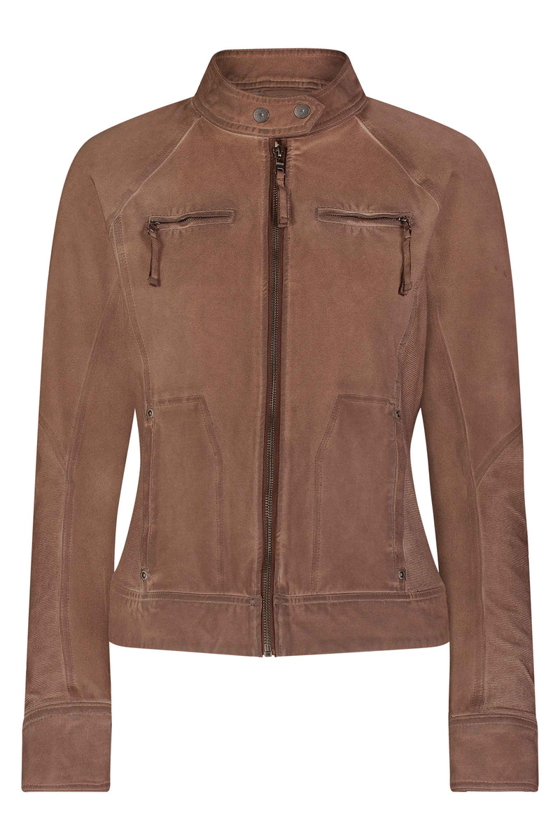 Freya Textured Moto Jacket - Marrakech Clothing