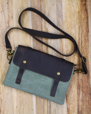 Cala Leather Crossbody Bag - Dusty Fern