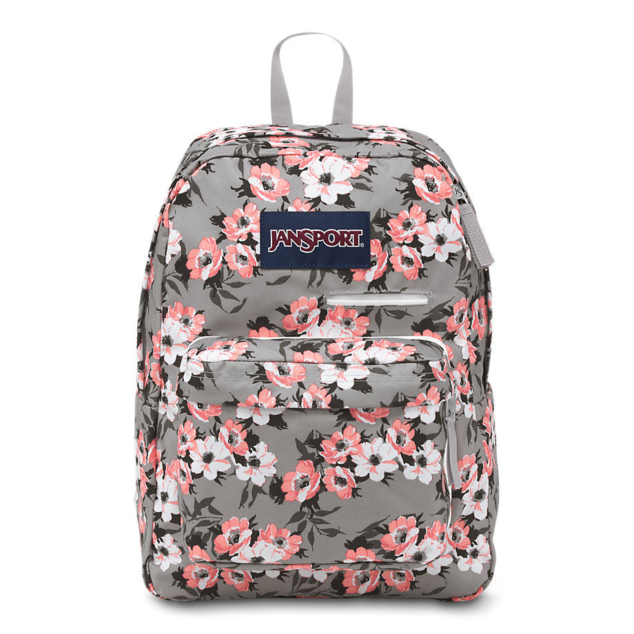 White Field Floral Jansport Backpack