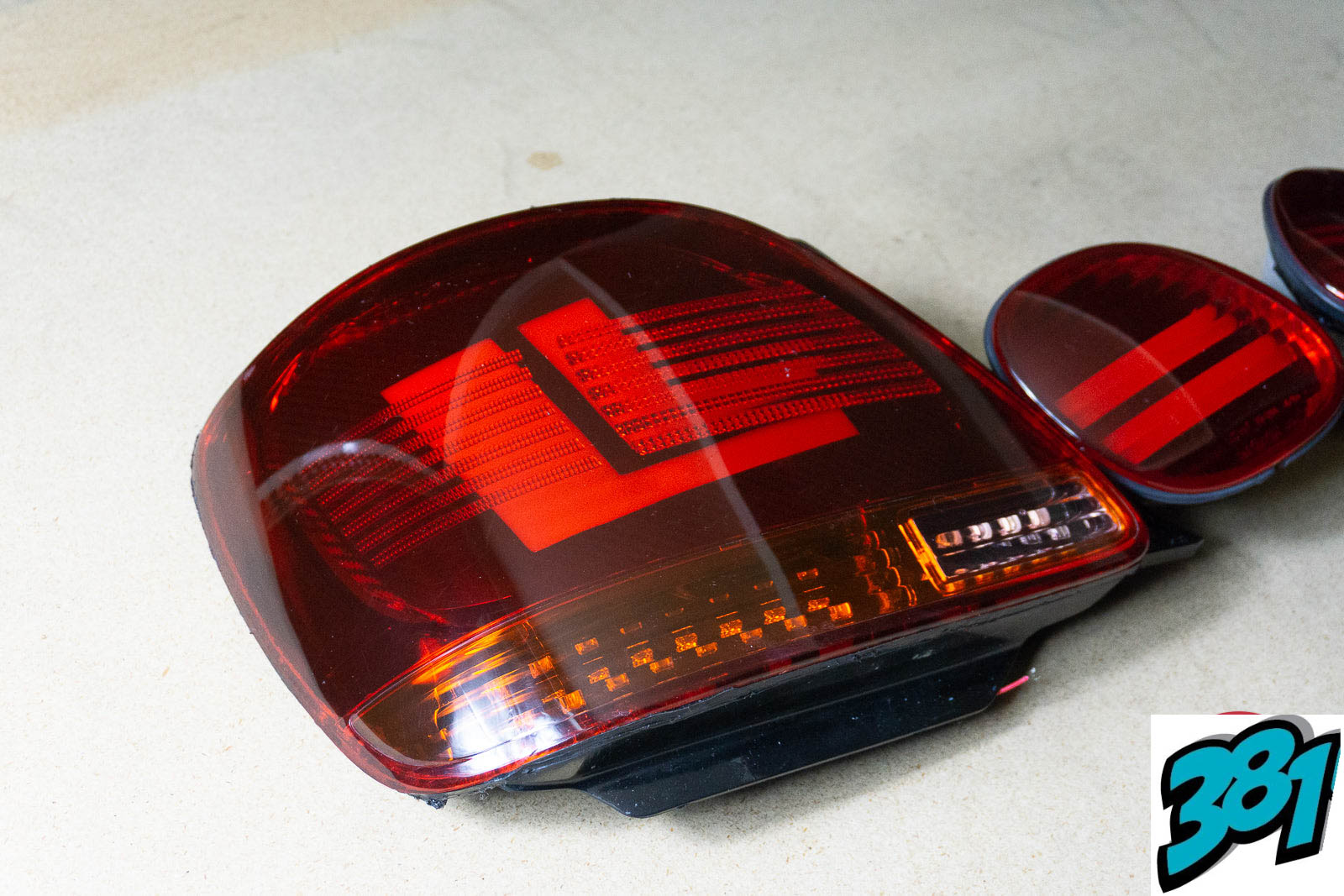 1998-2005 Lexus GS300 Toyota Aristo JZS161 OEM One Off LED Acrylic Tail Lights GS400 GS430 Mercedes Style