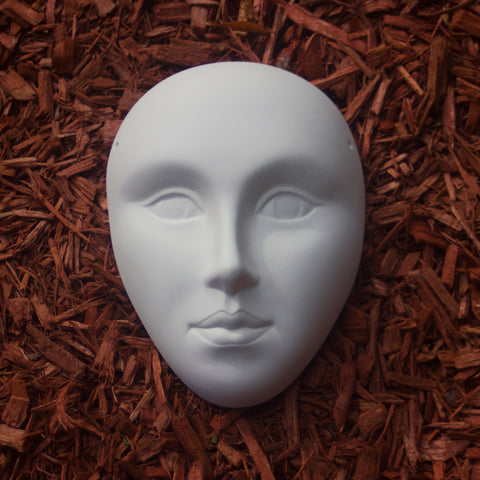 "Simple Mask 7"" Ready to Paint Pottery Ceramic Bisque"