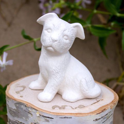 "Attentive Puppy 3.3"" Ready to Paint Ceramic Bisque"