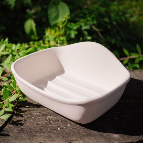 "Deep Soap Dish 5"" Ready to Paint Ceramic Bisque"