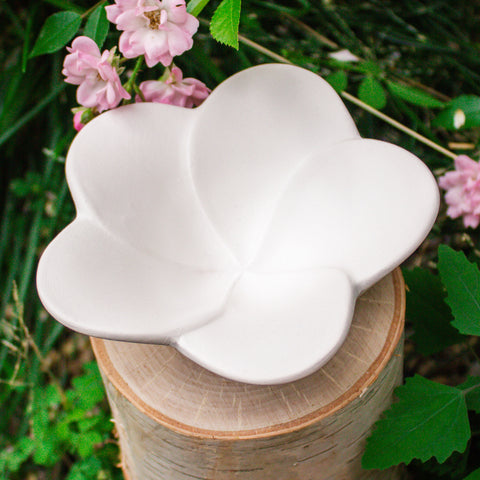 "Flower Bowl 5"" Ready to Paint Ceramic Bisque"