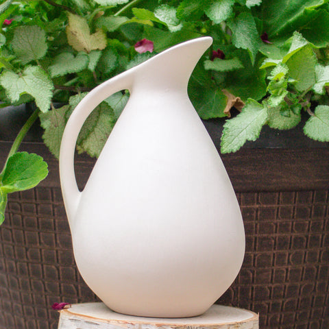 "Small Water Pitcher 6"" Ready to Paint Ceramic Bisque"