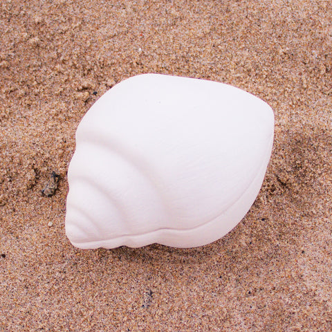 "Dove Shell Seashell Jewelry Box 2.4"" Ready to Paint Ceramic Bisque"