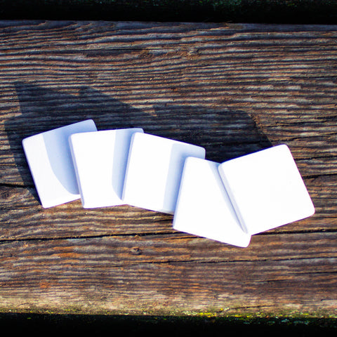 "Small Tiles - Set of 5 - 1.25"" Ready to Paint Pottery Ceramic Bisque"